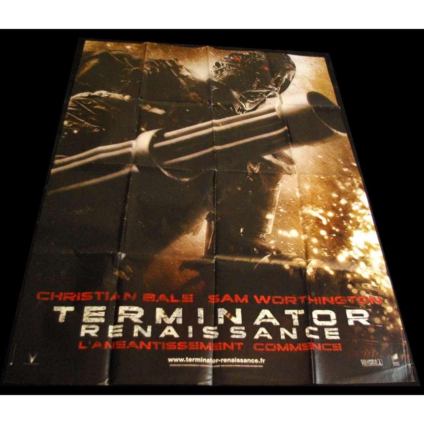 TERMINATOR RENAISSANCE Affiche 120x160 FR '08 Christian Bale