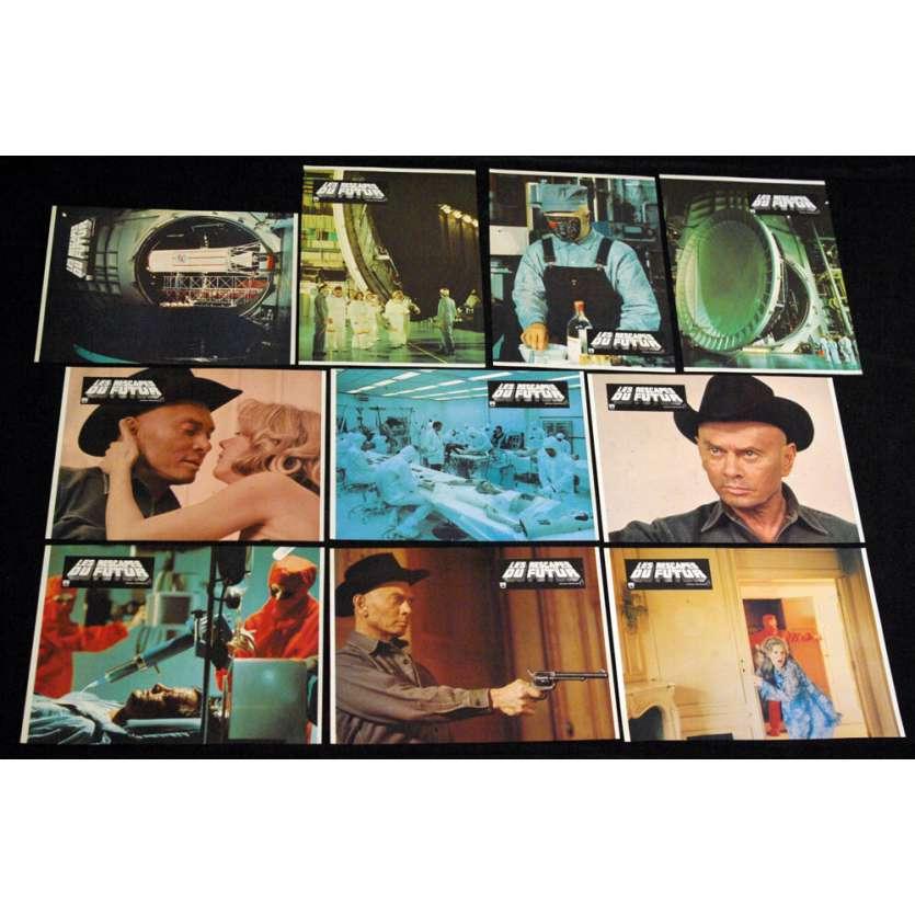 FUTURE WORLD French Lobby Cards 9x12 '76 x10 Yul Bryner