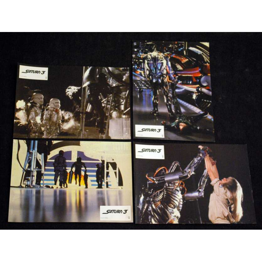 SATURN 3 French Lobby Cards 9x12 '79 x4 Kirk Douglas