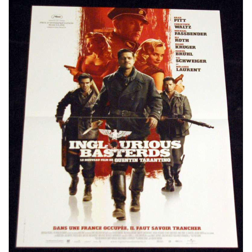 INGLORIOUS BASTERDS French Movie Poster 15x21 '94 Quentin Tarantino, Brad Pitt, Christoph Waltz