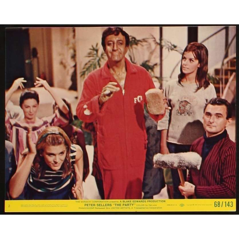 PARTY Photo exploitation 20x25 N3 US '68 Peter Sellers, Blake Edwards Lobby Card