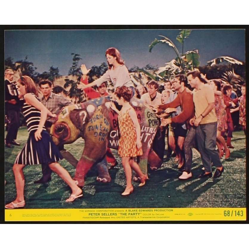 PARTY Photo exploitation 20x25 N4 US '68 Peter Sellers, Blake Edwards Lobby Card