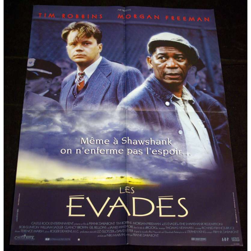EVADES Rare Affiche 60x80 FR'94 Stephen King, Shawshank Redemption movie poster