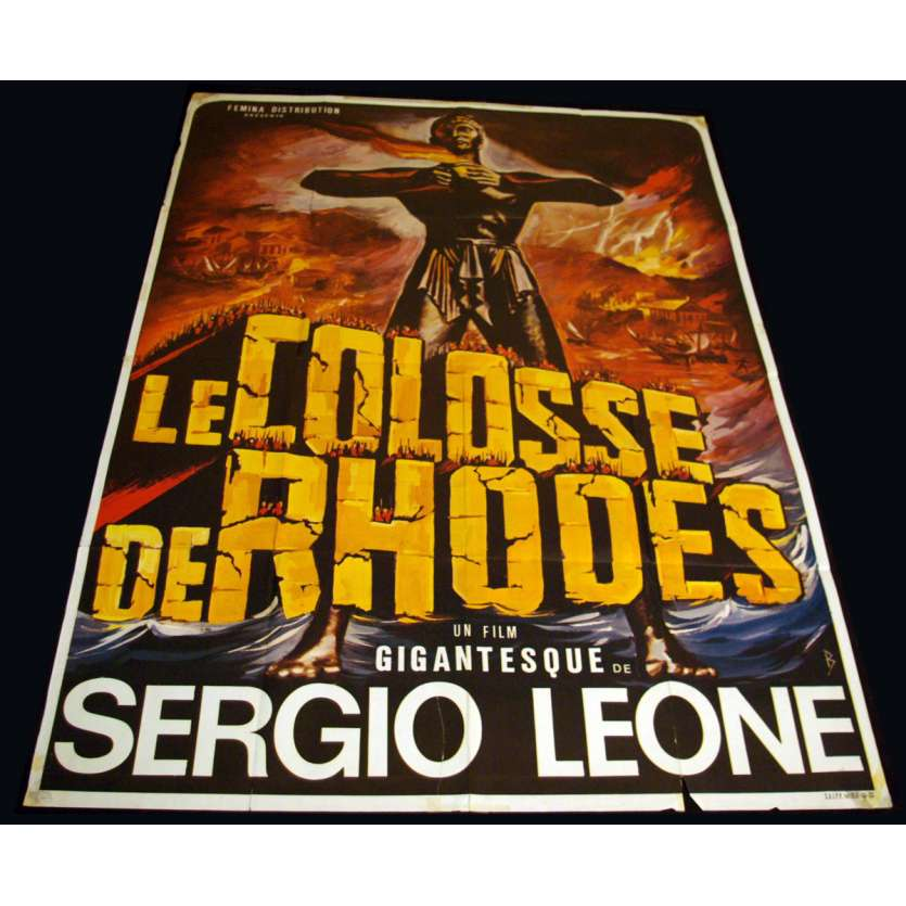 COLOSSUS OF RHODES French Movie Poster 47x63 '61 Sergio Leone Peplum