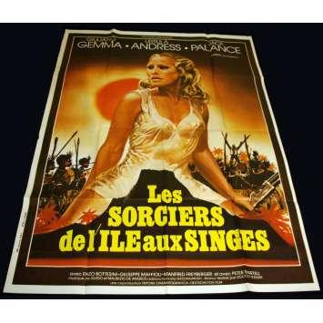 SAFARI EXPRESS French Movie Poster 47x63 '76 Ursula Andress, Jack Plance