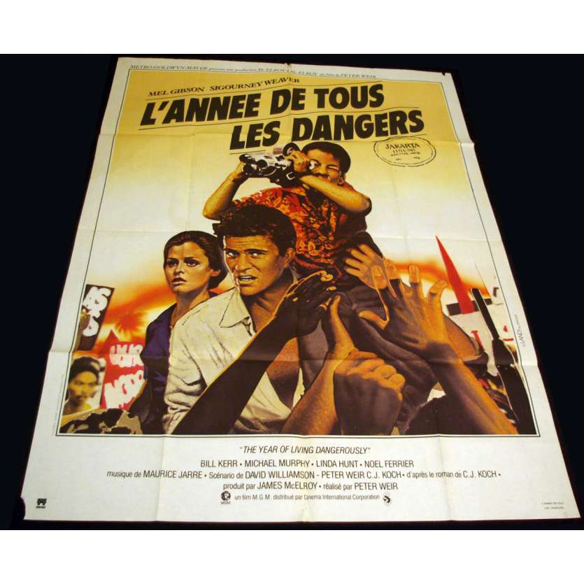 YEAR OF LIVING DANGEROUSLY French Movie Poster 47x63 '84 Mel Gibson, Sigourney Weaver