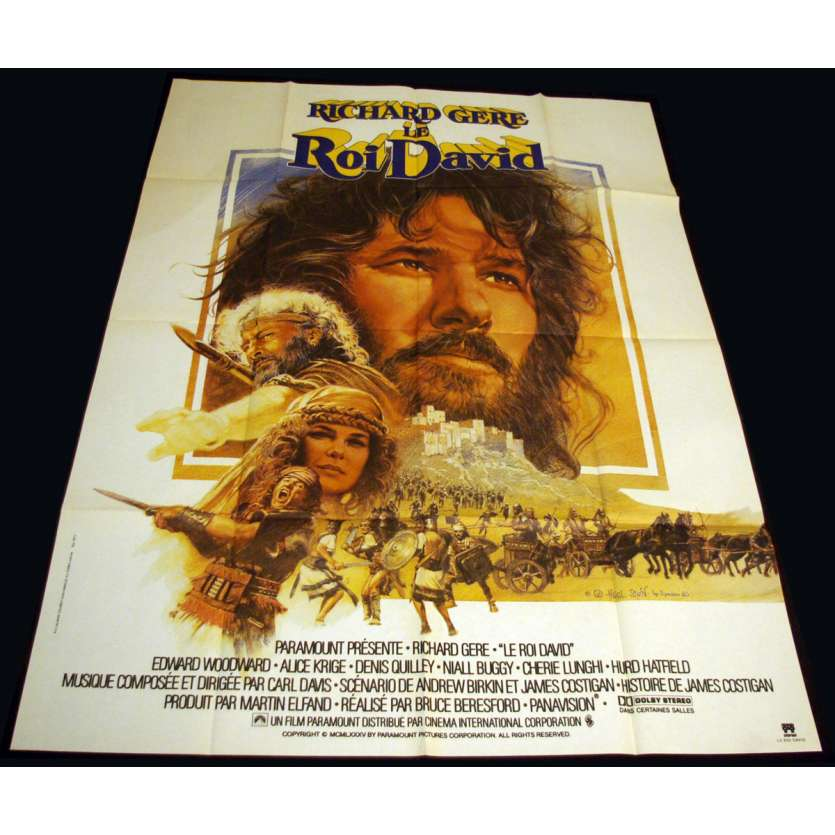ROI DAVID Affiche 120x160 FR '85 Richard Gere King David movie Poster