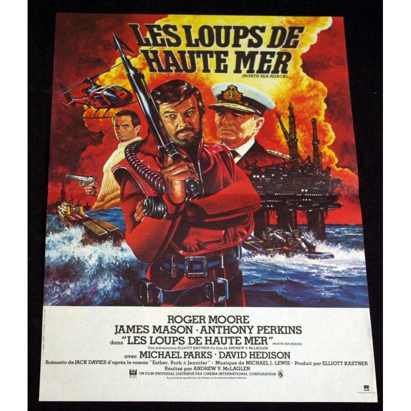 LOUPS DE HAUTE MER Affiche 40x60 FR '80 Roger Moore, James Mason Movie Poster