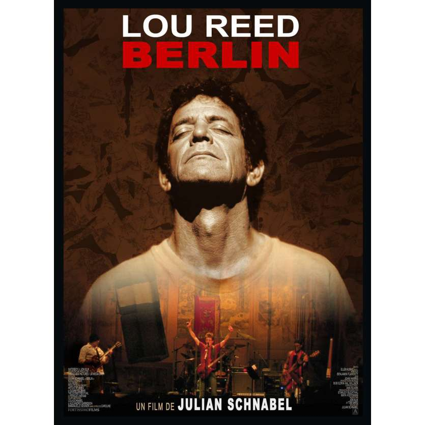 LOU REED BERLIN Affiche 120x160 FR '07 Julian Schnabel Movie Poster