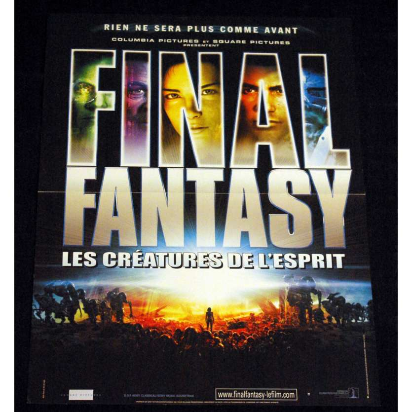 FINAL FANTASY French Movie Poster 15x21 '01 Hironobu Sakaguchi