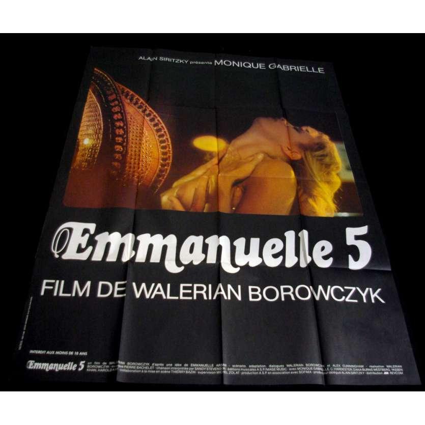 EMMANUELLE 5 Affiche 120x160 FR '87 Walerian Borowczyk, érotique, sexy Poster