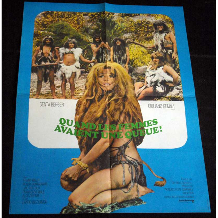 QUAND LES FEMMES AVAIENT UNE QUEUE French Movie Poster 23x32 '70 Giuliano Gemma, X-rated, sexy Poster