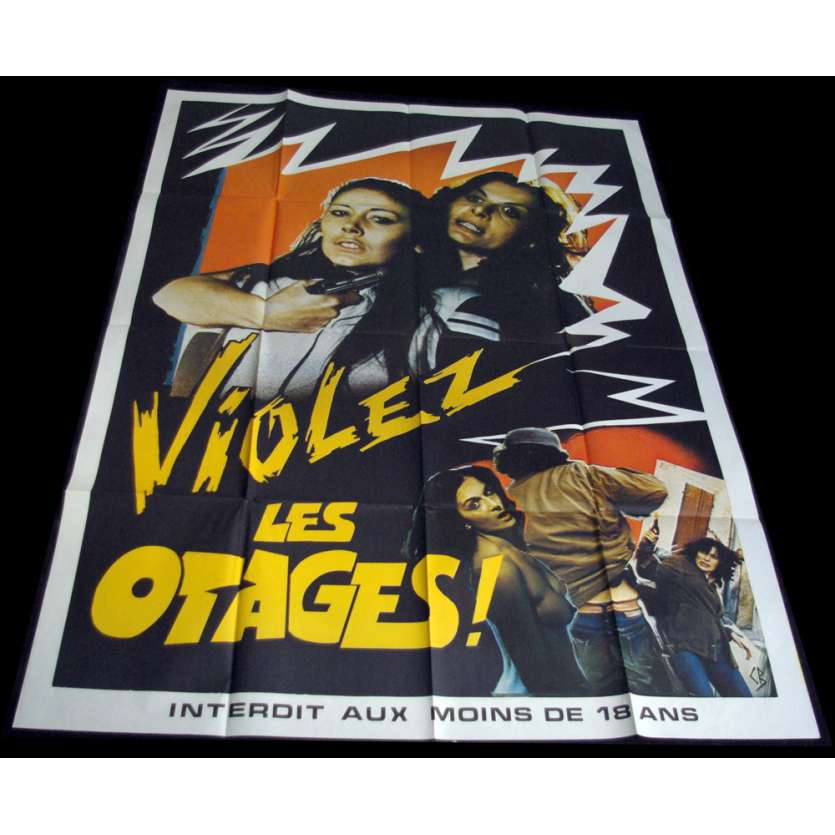 VIOLEZ LES OTAGES French Movie Poster 47x63 '78 Giovanni Brusadori, X-rated, sexy Poster