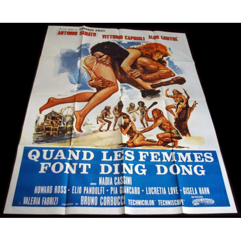 QUAND LES FEMMES FONT DING DONG French Movie Poster 47x63 '71 Algo Giuffre, X-rated, sexy Poster