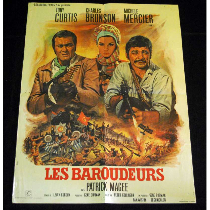 BAROUDEURS Affiche 60x80 FR '70 Tony Curtis, Charles Bronson, You Can't Win 'Em All