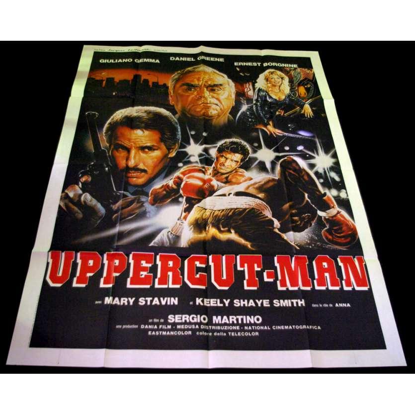 UPPERCUT MAN Affiche 120x160 FR '87 Sergio Martino, Ernest Borgnine
