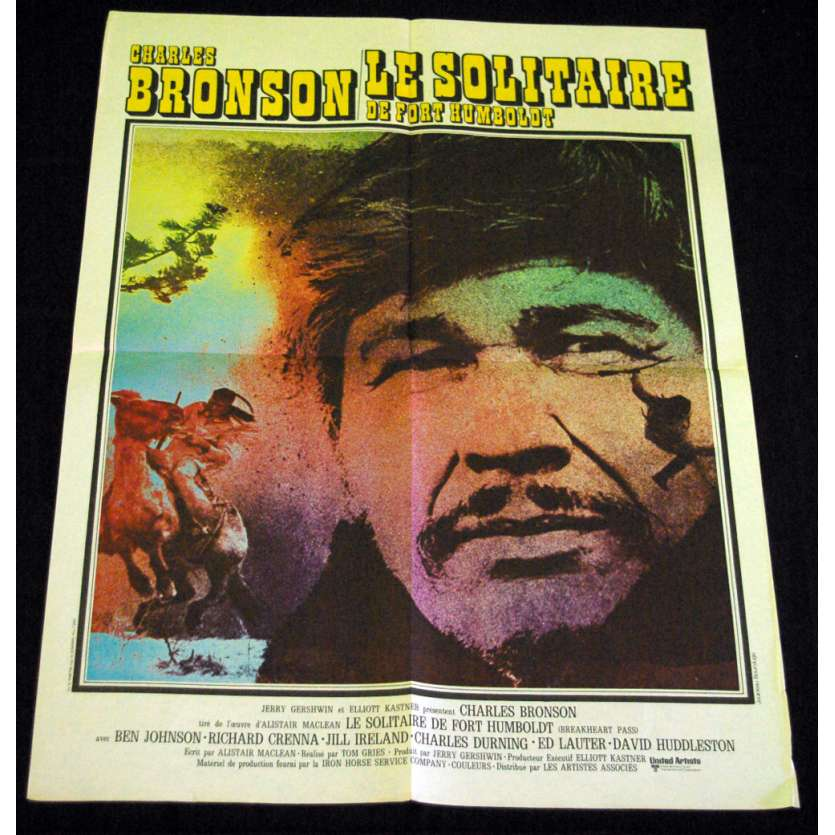 BREAKHEART PASS French Movie Poster 23x32 '75 Charles Bronson