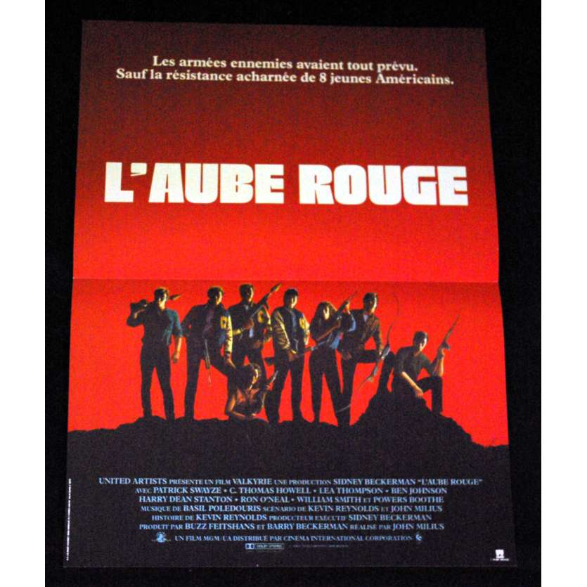AUBE ROUGE Affiche 40x60 FR '84 Patrick Swayze, Charlie Sheen, Red Dawn