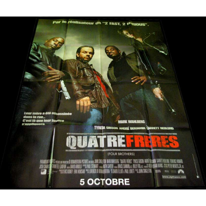 FOUR BROTHERS French Movie Poster 47x63 '05 Mark Wahlberg, John Singleton