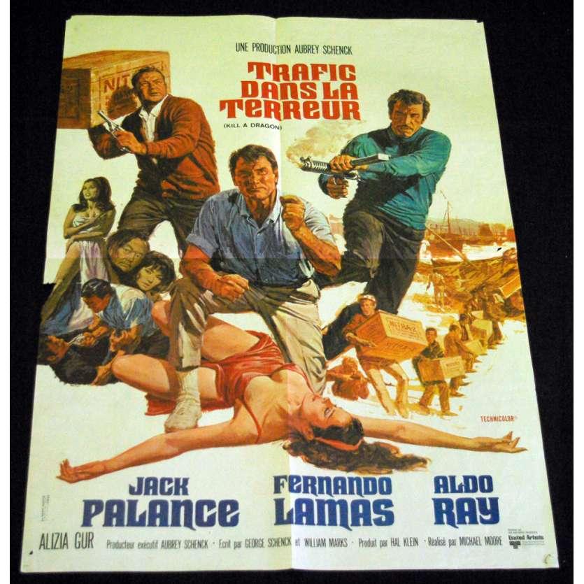 TRAFIC DANS LA TERREUR Affiche 60x80 FR '67 Jack Palance, Kill A Dragon