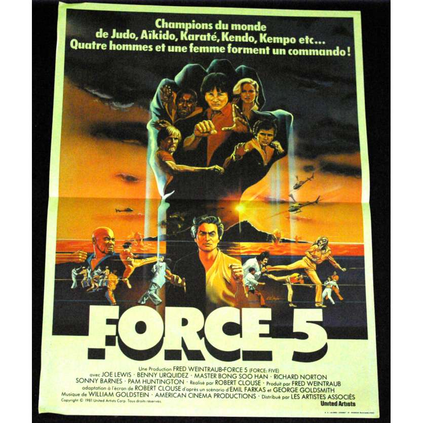 FORCE FIVE French Movie Poster 15x21 '81 Robert Clouse
