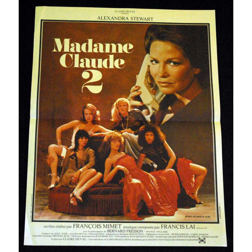 MADAME CLAUDE 2 French Movie Poster 15x21 '81 Alexandra Stewart, X-rated, sexy Poster