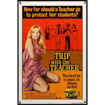 TRIP WITH THE TEACHER insert movie Poster '74 Brenda Fogarty goes too far for her students
