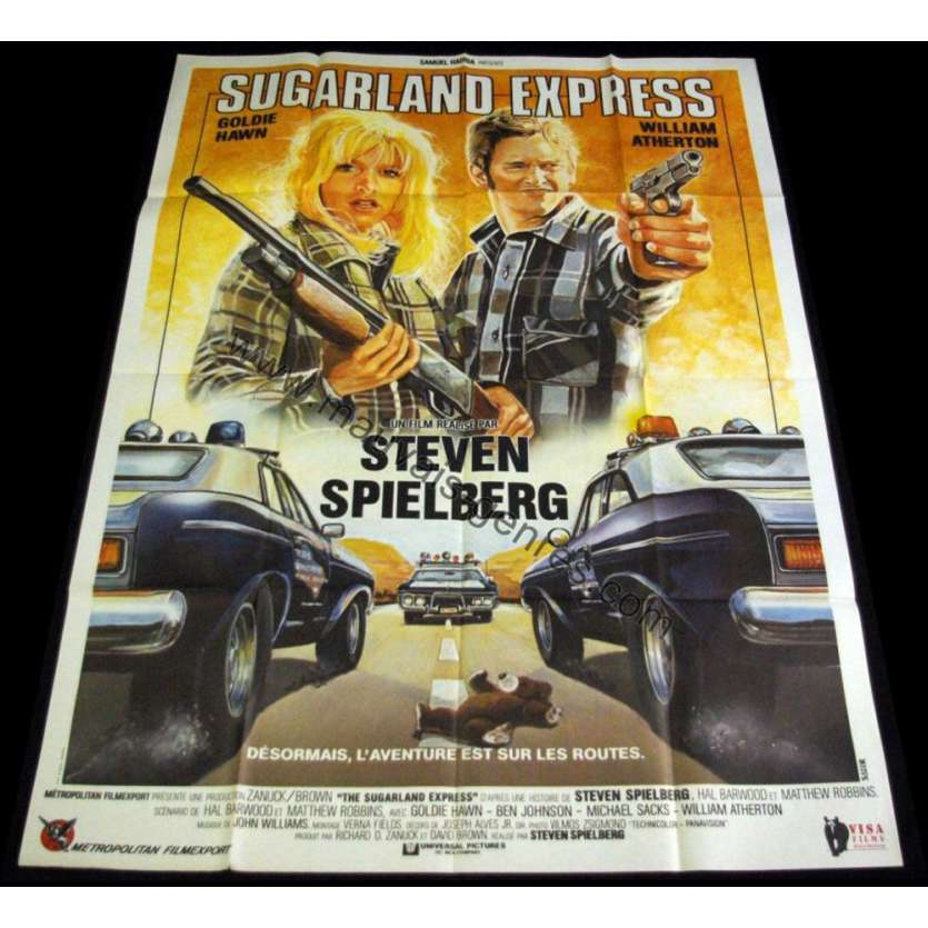 SUGARLAND EXPRESS French Movie Poster 47x63 R80 Steven Spielberg, Goldie Hawn