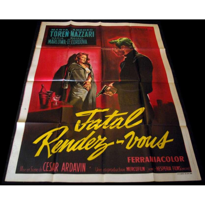 FATAL RENDEZ-VOUS Affiche 120x160 FR '57 Ardavin, La Puerta Abierta