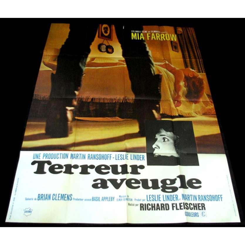 TERREUR AVEUGLE Affiche 120x160 FR '71 Mia Farrow, Richard Fleisher