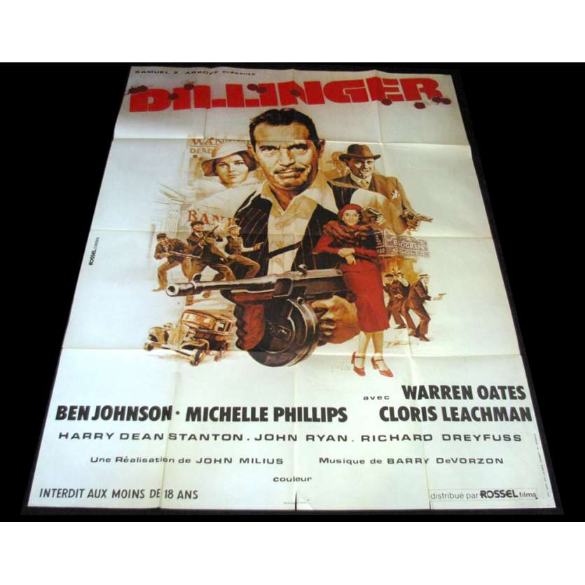 DILLINGER Movie Poster - Original French One Panel
