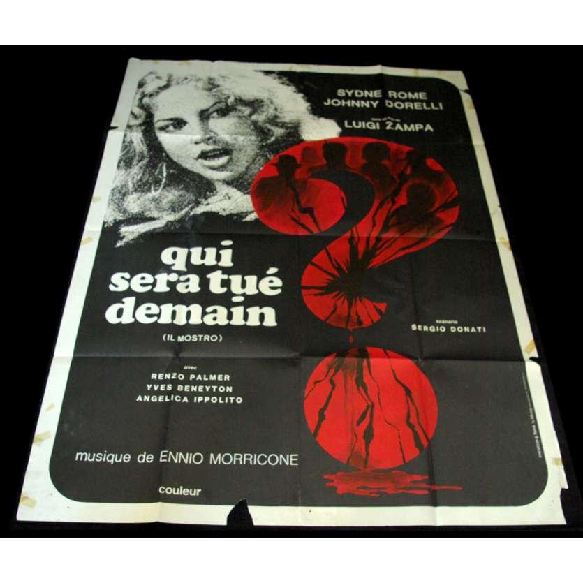 QUI SERA TUE DEMAIN Affiche 120x160 FR '77 Il Mostro, Sergio Donati, Giallo