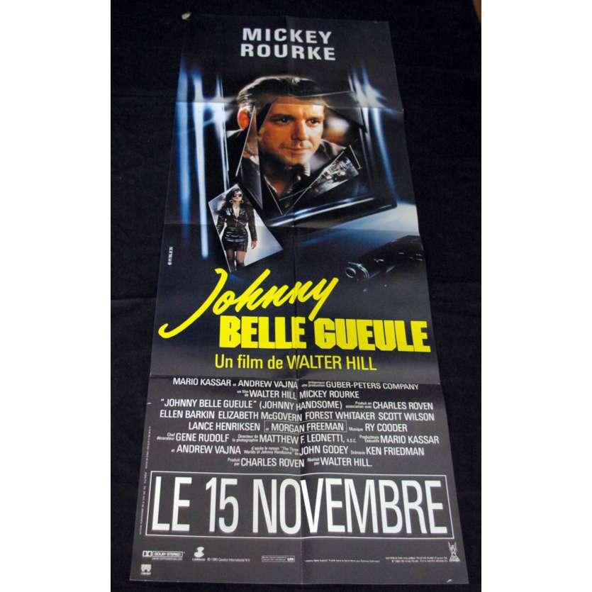 JOHNNY BELLE GUEULE Affiche 60x160 FR '89 Mickey Rourke