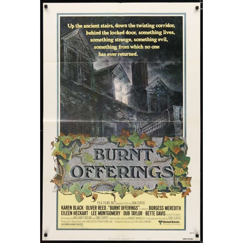 BURNT OFFERINGS Movie Poster - Oliver Reed