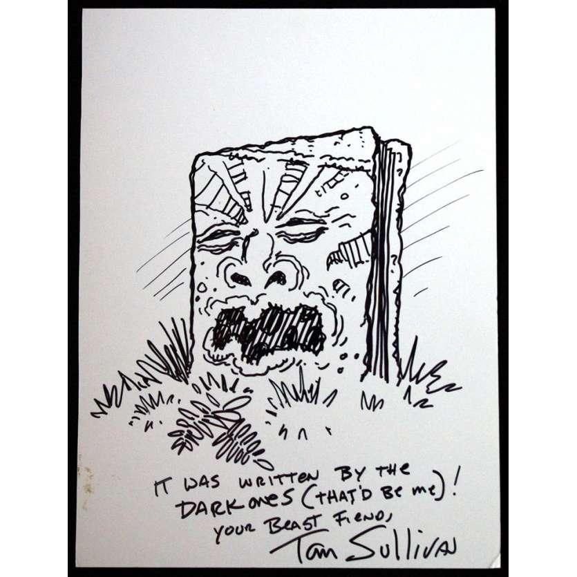 Mauvais-genres.com EVIL DEAD Artwork original signé par Tom Sullivan Storyboards et dessins