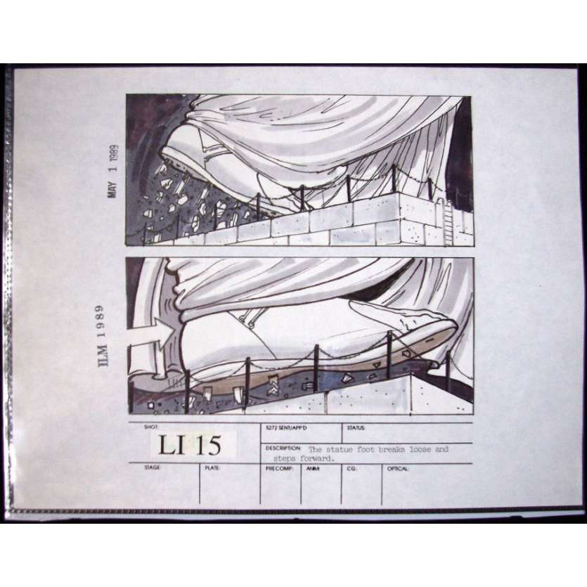 Mauvais-genres.com GHOSTBUSTERS 2 Story Board Original USA 1989 Storyboards et dessins