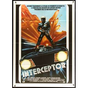MAD MAX Italian Movie Poster '80 cool art of Mel Gibson, George Miller sci-fi classic, Interceptor!