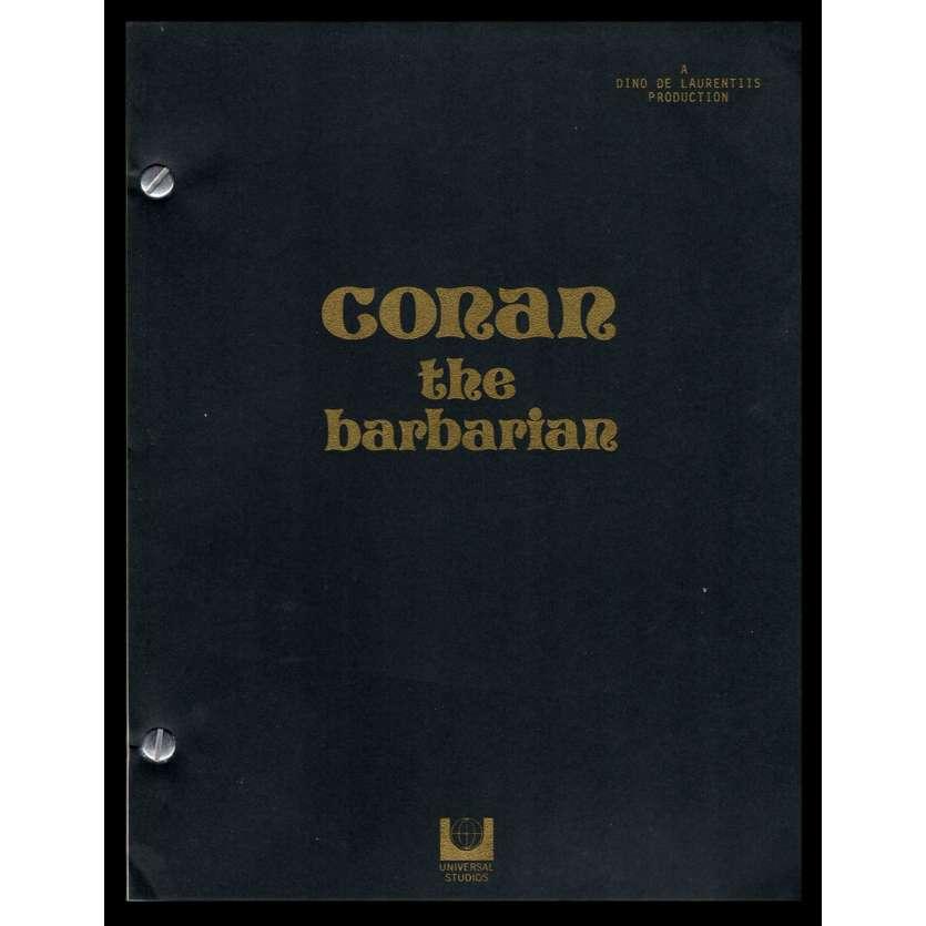 CONAN Scénario de production '82 John Milius Schwarzenegger Movie Script