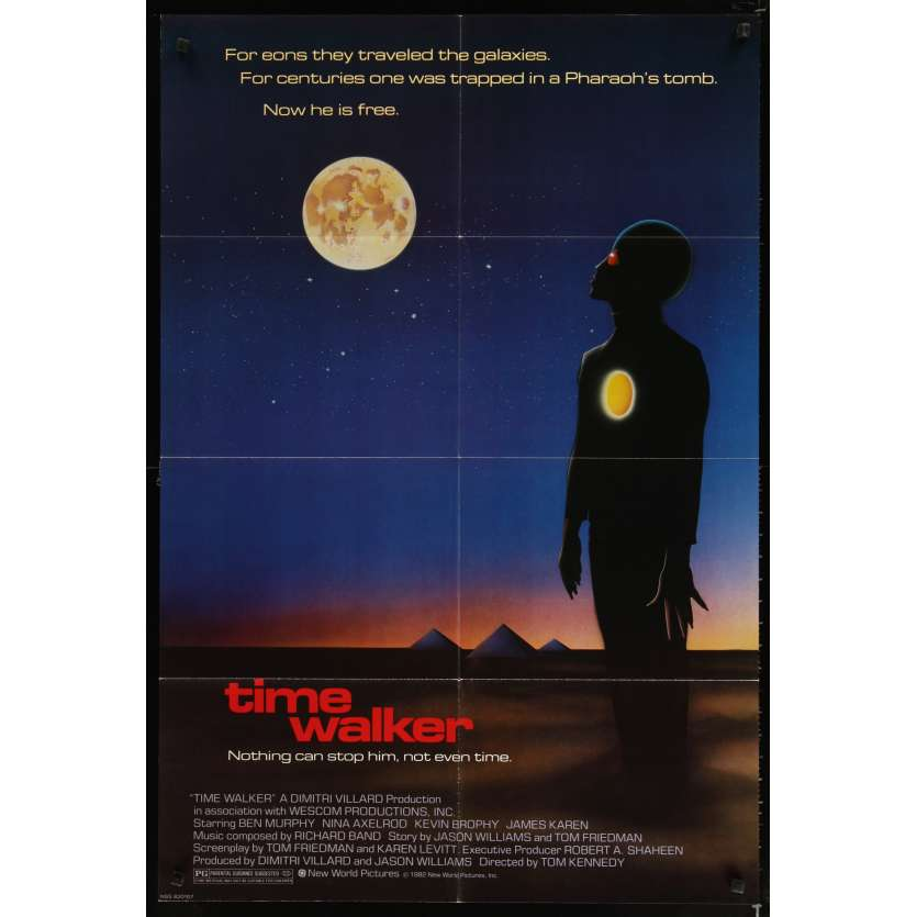 TIME WALKER Movie Poster '82 Tom Kennedy