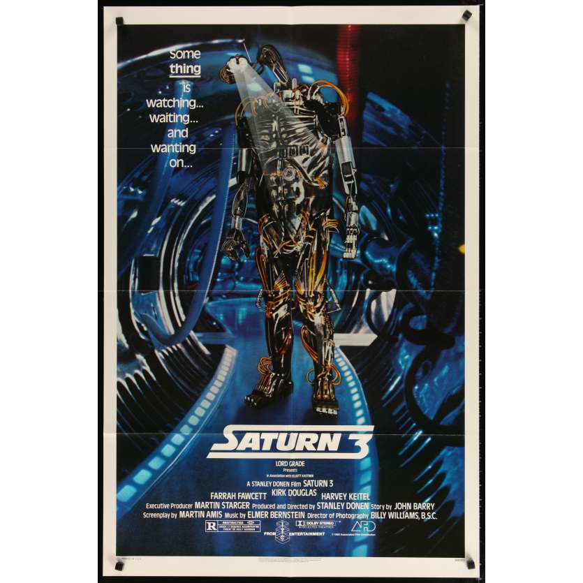 SATURN 3 Movie Poster '80 Kirk Douglas