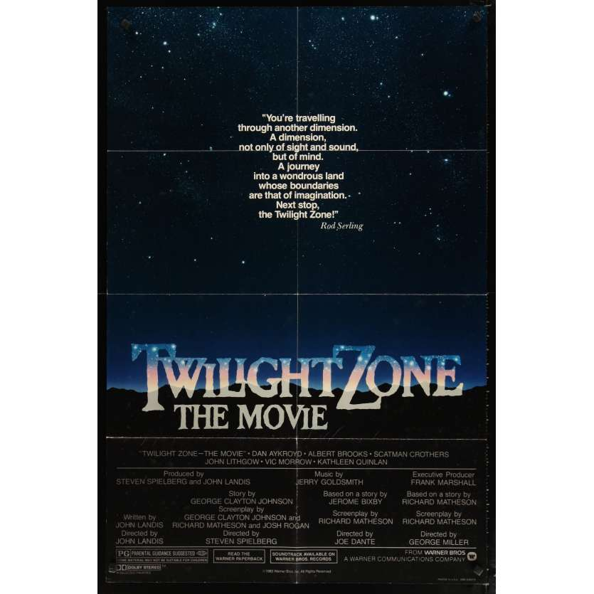 TWILLIGHT ZONE Movie Poster '84 Steven Spielberg, Joe Dante
