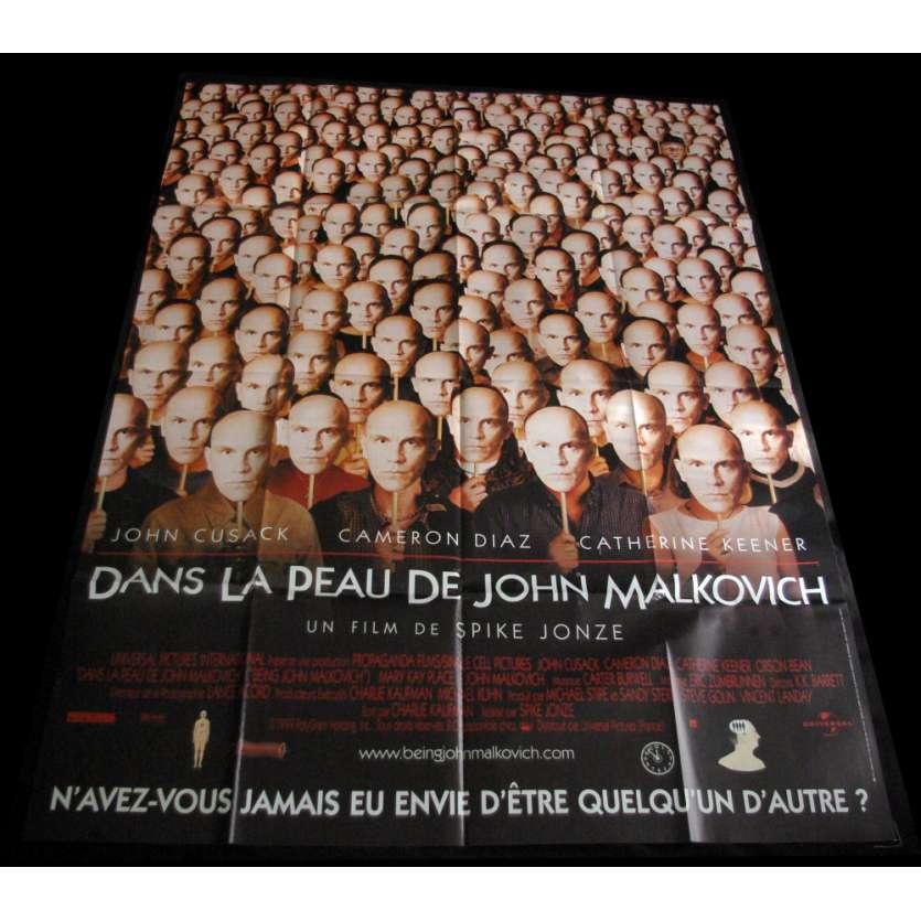 DANS LA PEAU DE JOHN MALKOVICH Affiche de film 120x160 FR '99 Cameron Diaz