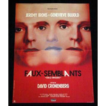 FAUX-SEMBLANTS affiche de film 40x60 FR '88 David Cronenberg