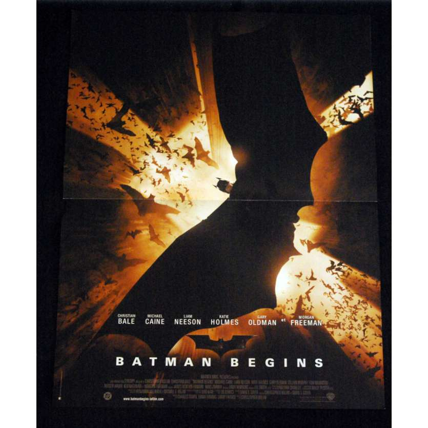 BATMAN BEGINS French Movie Poster '05 15x21 Christopher Nolan B