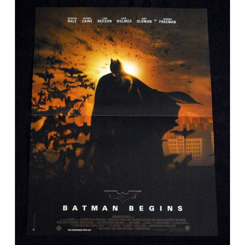 BATMAN BEGINS French Movie Poster '05 15x21 Christopher Nolan A