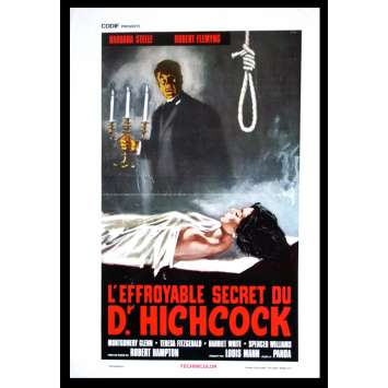 L'EFFROYABLE SECRET DU DR. HITCHCOCK Affiche de film 35x55 '62 Barbara Steele, Freda
