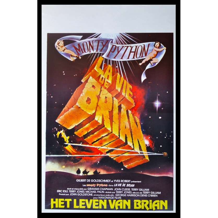 LIFE OF BRIAN Belgian Movie Poster '79 Monty Python