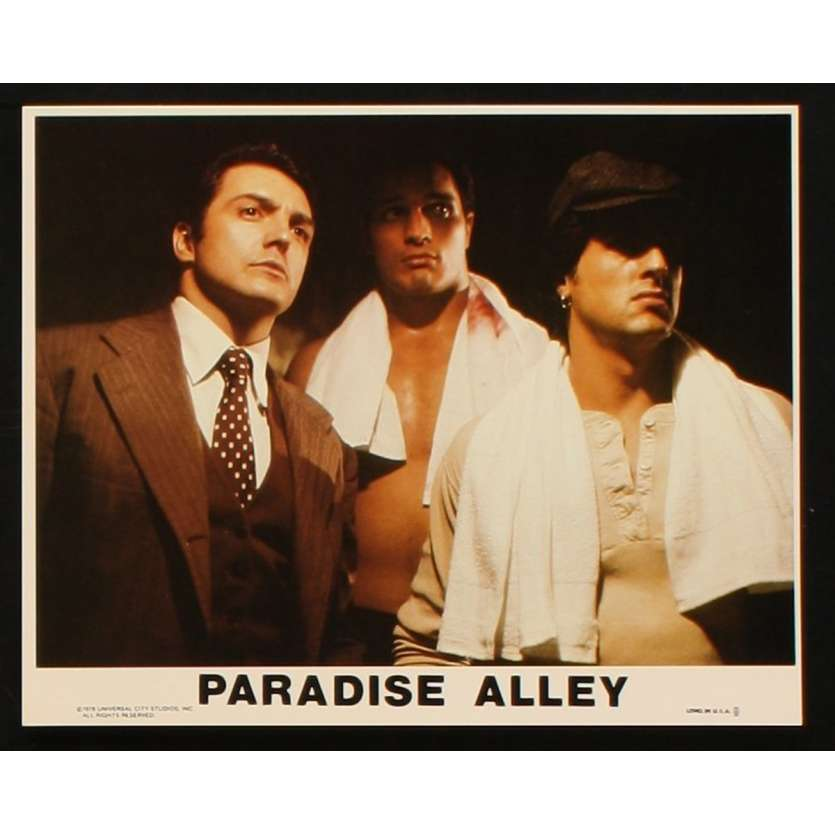 PARADISE ALLEY 8x10 mini LC N3 '78 Sylvester Stallone