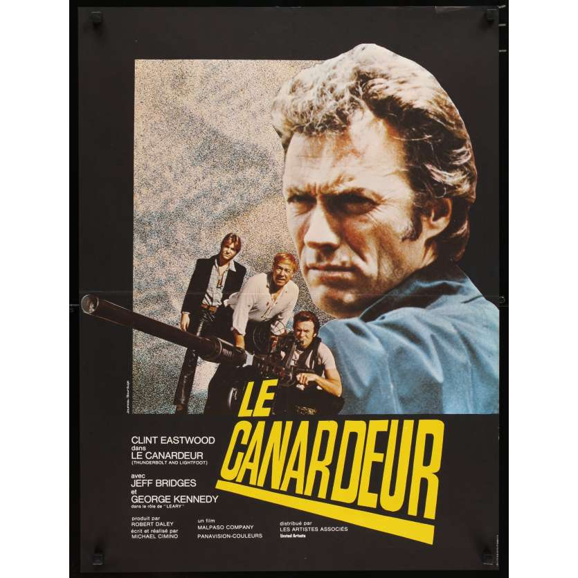 THUNDERBOLT & LIGHTFOOT French 23x32 '74 huge image of Clint Eastwood & big gun!
