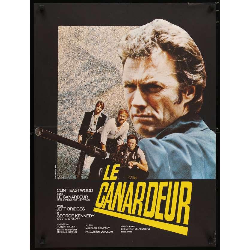 THUNDERBOLT & LIGHTFOOT French 23x32 '74 huge image of Clint Eastwood & big gun!